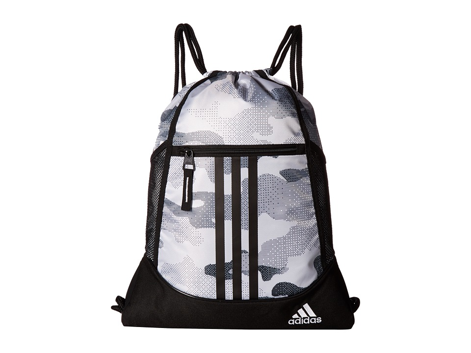 adidas - Alliance II Sackpack (Data Camo White/Black/White) Bags