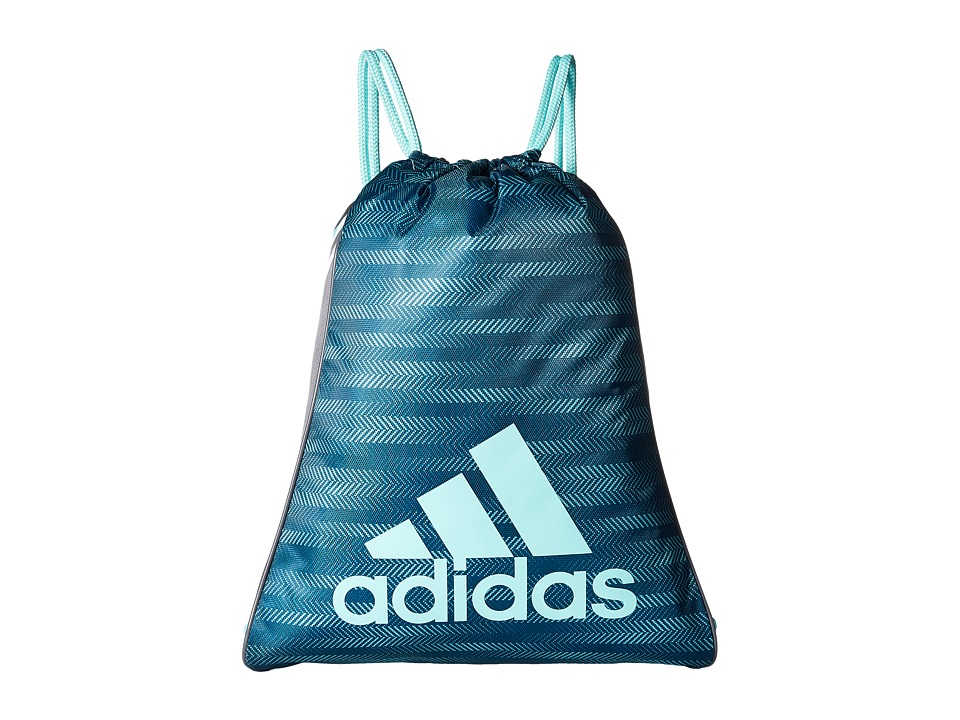 adidas - Burst Sackpack (Energy Aqua Ratio/Onix/Energy Aqua) Bags