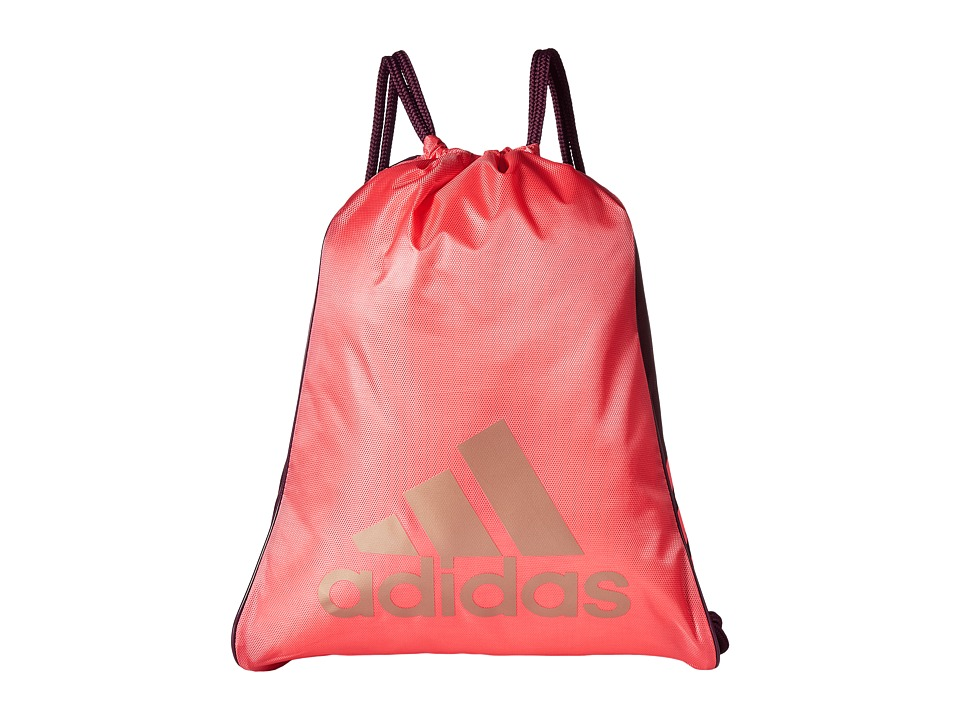 adidas - Burst Sackpack (Super Pink/Red Night/Bronze) Bags