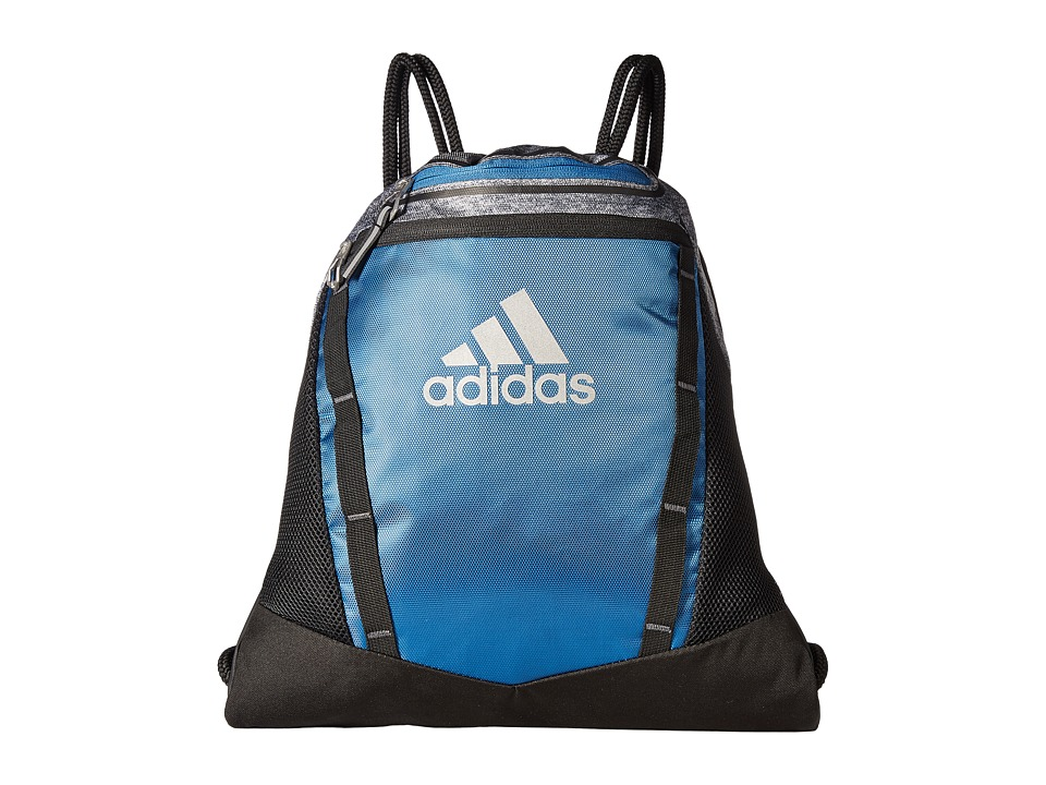 adidas - Rumble II Sackpack (Core Blue/Black/Onix Jersey/Reflective Silver) Bags