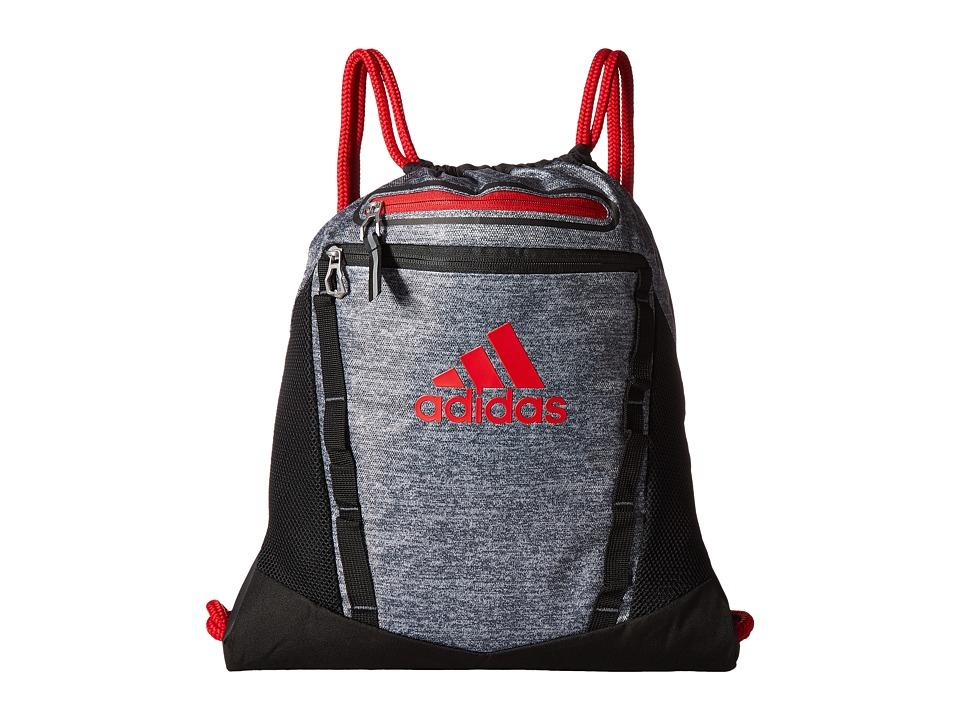 adidas - Rumble II Sackpack (Onix Jersey/Black/Scarlet) Bags