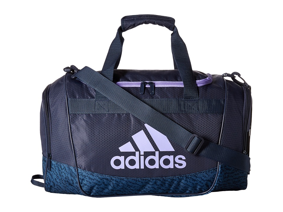 adidas - Defender II Small Duffel (Trace Blue/Trace Blue Compass/Light Flash Purple) Duffel Bags