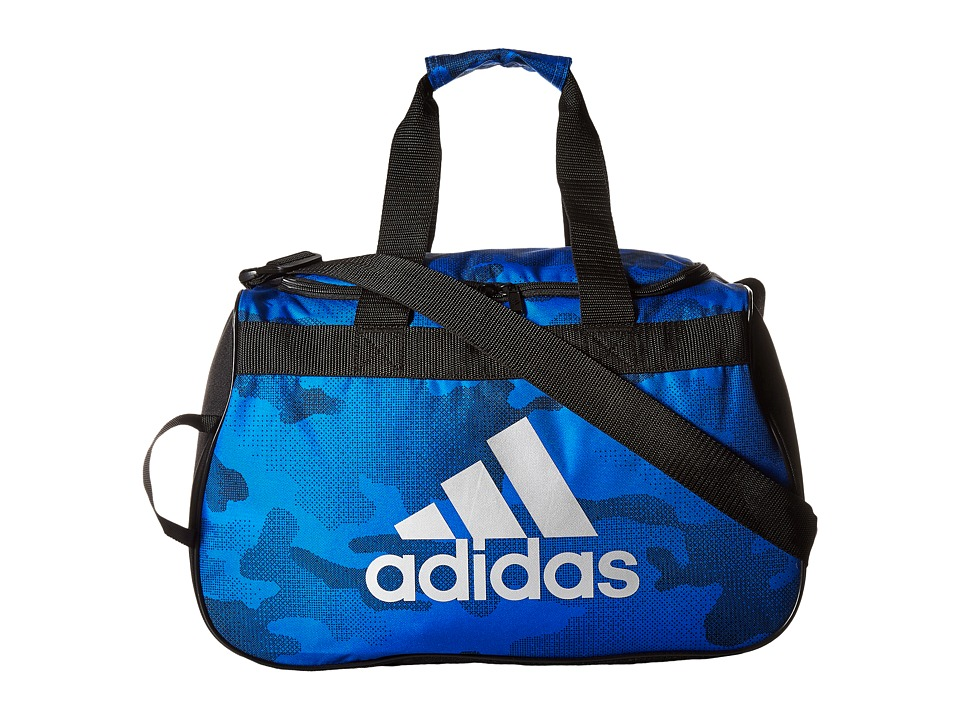 adidas - Diablo Small Duffel (Blue Data Camo/Black/Silver) Duffel Bags