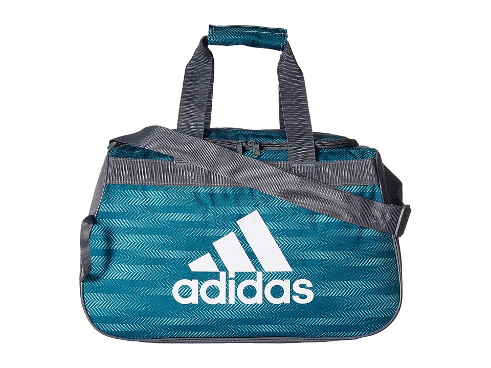 adidas - Diablo Small Duffel (Energy Aqua Ratio/Onix/White) Duffel Bags
