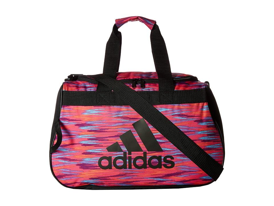 adidas - Diablo Small Duffel (Shock Pink Twister/Black/Shock Pink) Duffel Bags