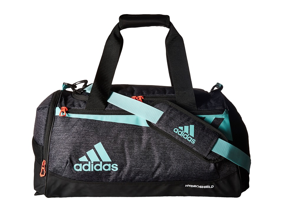 adidas - Team Issue Small Duffel (Black Jersey/Energy Aqua/Lucid Red) Duffel Bags