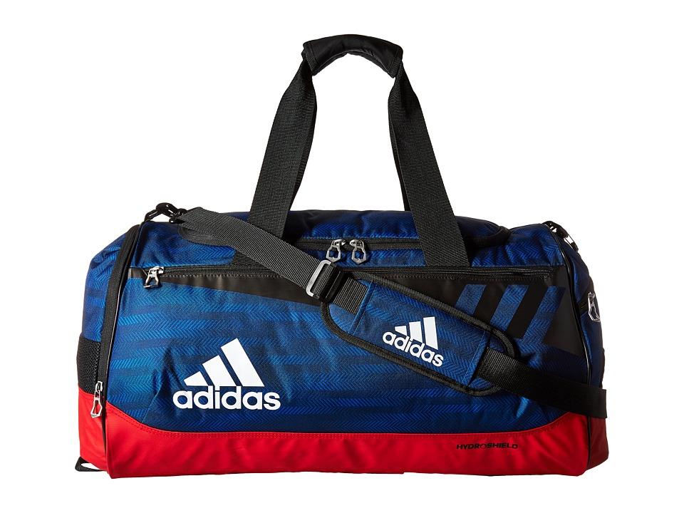 adidas - Team Issue Medium Duffel (Blue Ratio/Scarlet/Black/White) Duffel Bags