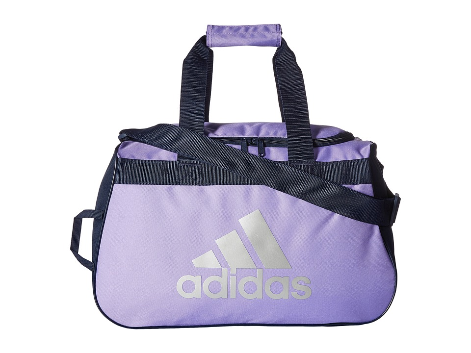 adidas - Diablo Small Duffel (Light Flash Purple/Collegiate Navy/Silver) Duffel Bags