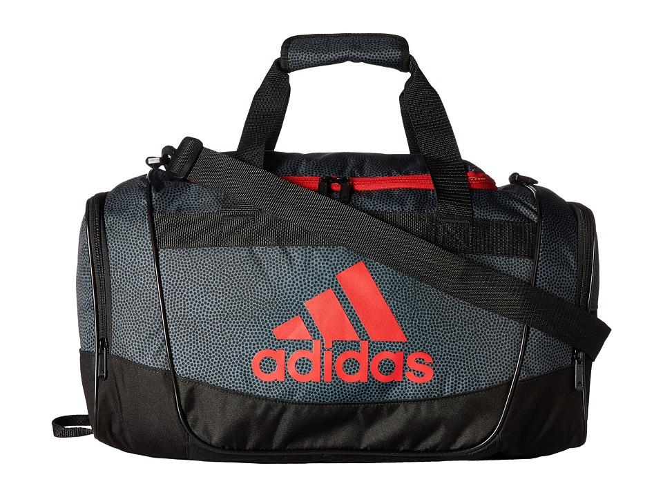 adidas - Defender II Small Duffel (Onix Grip/Black/Scarlet) Duffel Bags