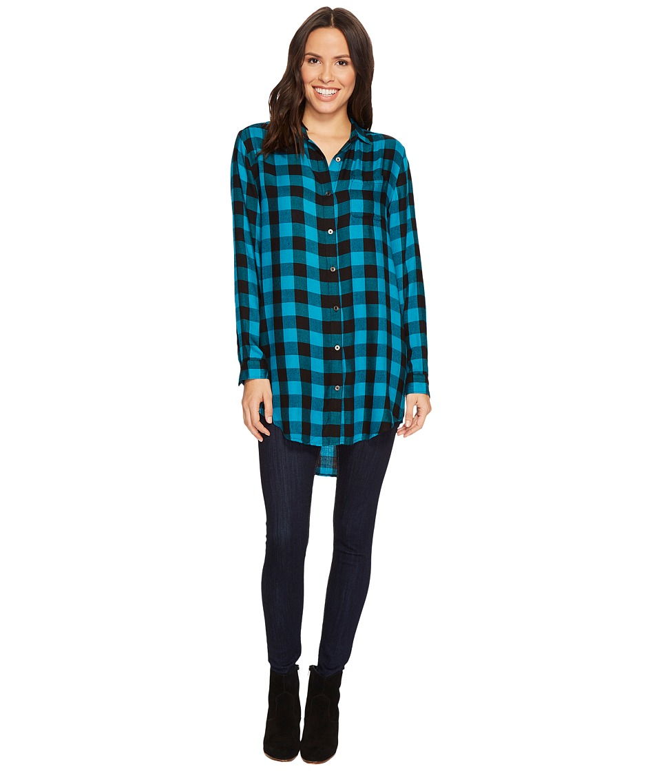 Jag Jeans Magnolia Tunic (Turquoise/Black) Women