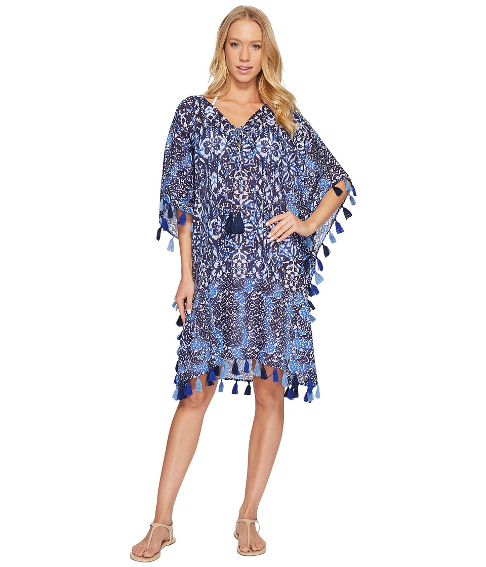 Miraclesuit Majorca Caftan Cover-Up (Blue) Women