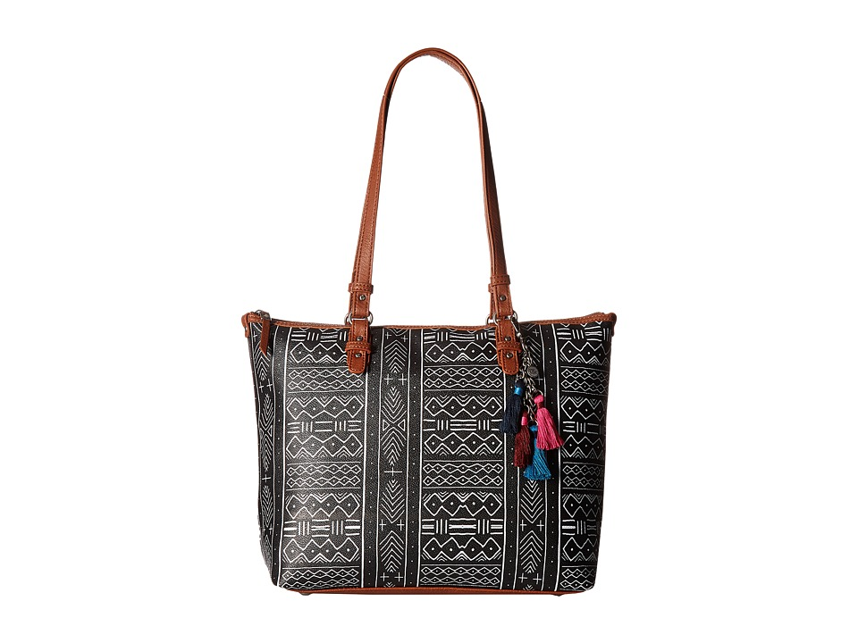 The Sak - Pacifica Tote (Black/White Mohave Print) Tote Handbags