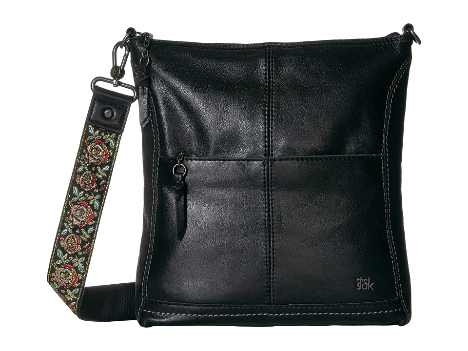 The Sak - Iris Crossbody (Black Floral Strap) Cross Body Handbags