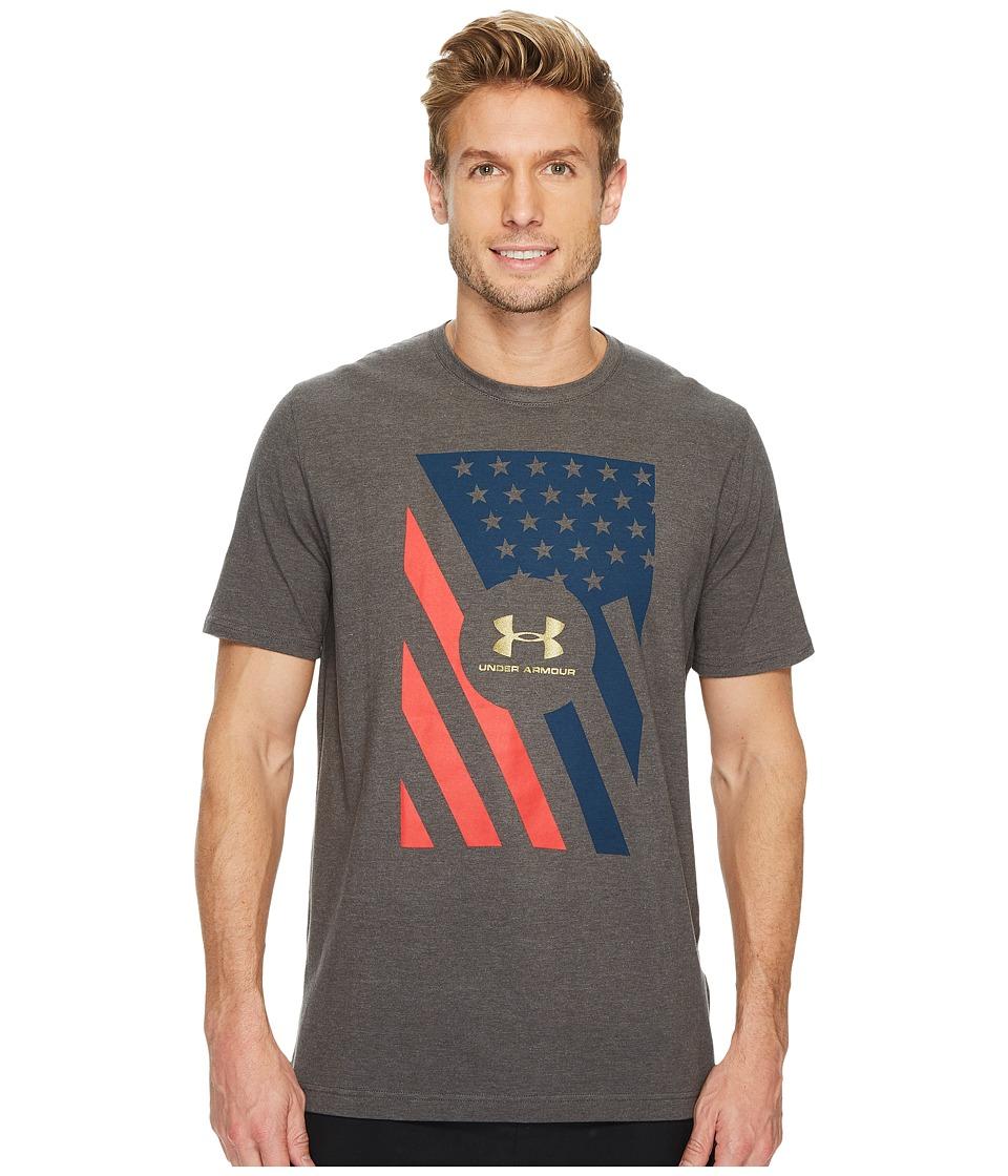 Under Armour - UA Rep the USA Short Sleeve Top (Grey) Men's Short Sleeve Pullover