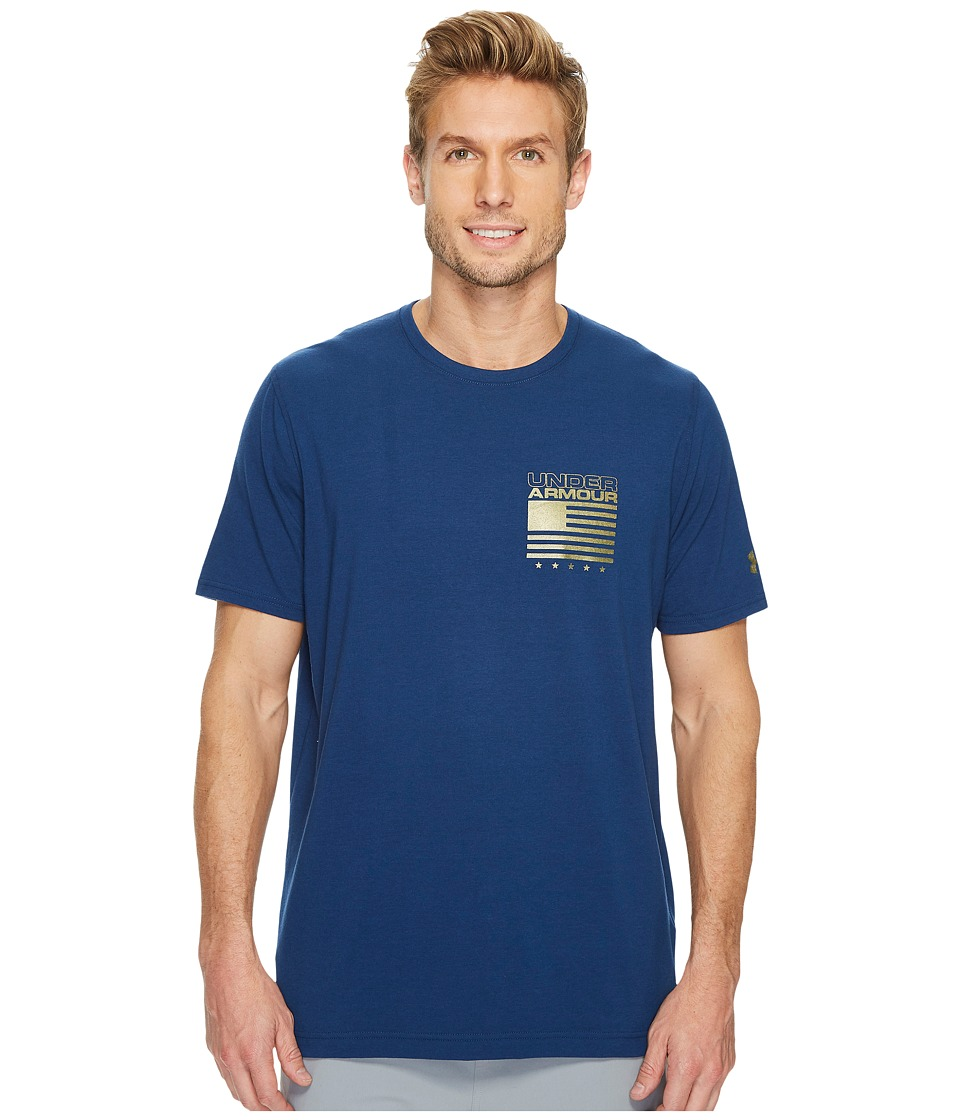 Under Armour - UA Flags Up Short Sleeve Top (Navy) Men's Short Sleeve Pullover