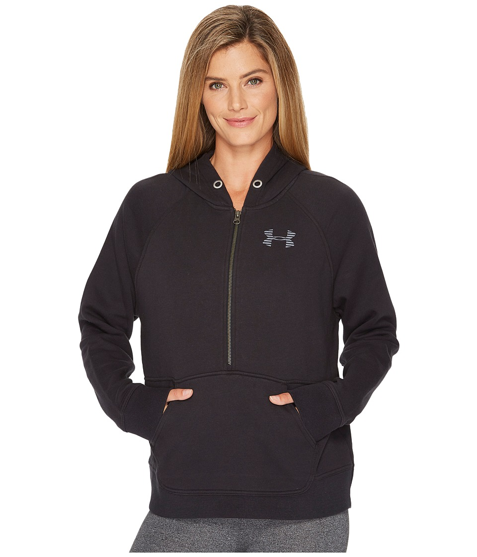 Under Armour - Favorite Fleece 1/2 Zip Top (Black) Women's Fleece