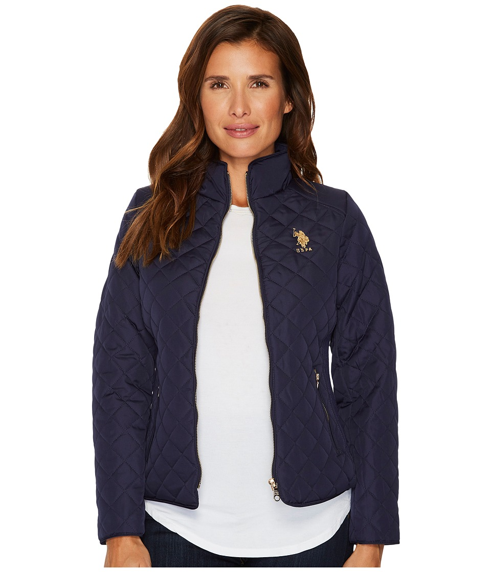 U.S. POLO ASSN. - Quilted Jacket (Evening Blue) Women's Coat
