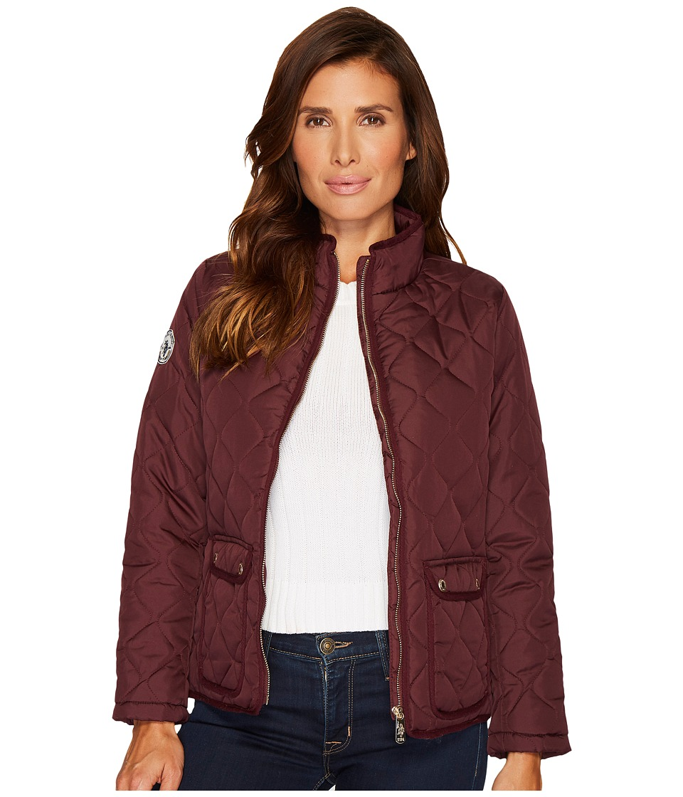 U.S. POLO ASSN. - Onion Quilted Jacket (Berry Park) Women's Coat