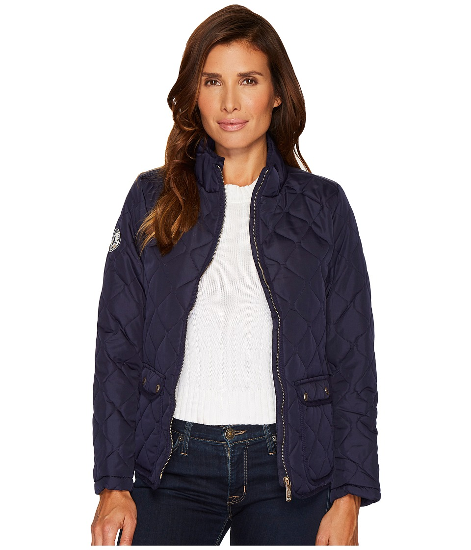 U.S. POLO ASSN. - Onion Quilted Jacket (Evening Blue) Women's Coat