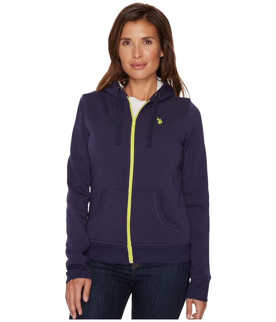 U.S. POLO ASSN. - Fleece Hoodie (Evening Blue) Women's Sweatshirt