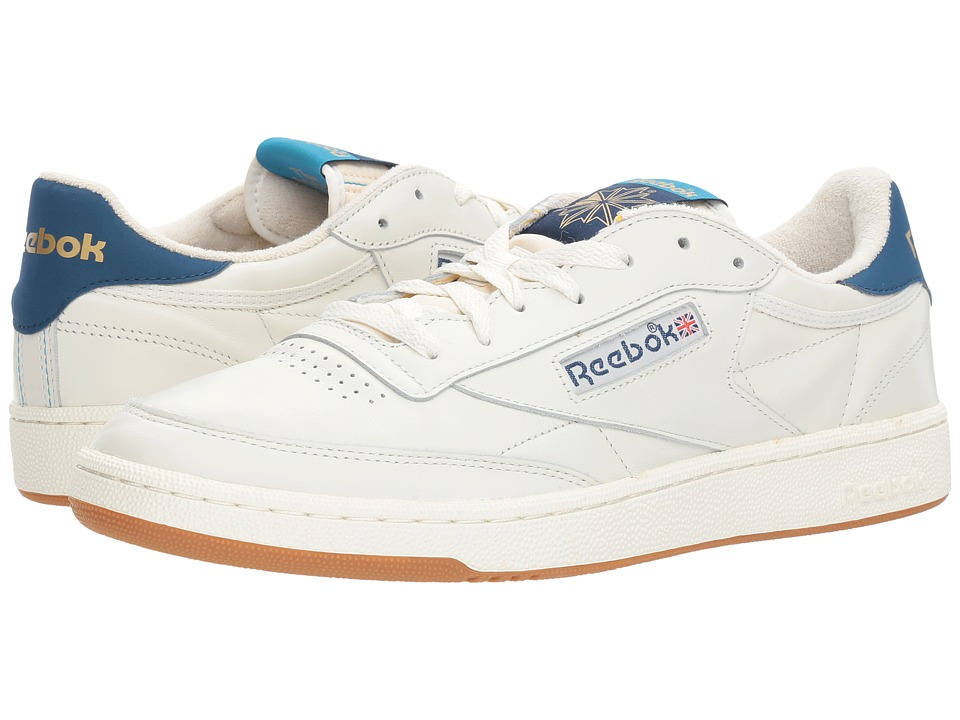 Reebok - Club C 85 Retro Gum (Chalk/Noble Blue/Wild Blue) Men's Shoes