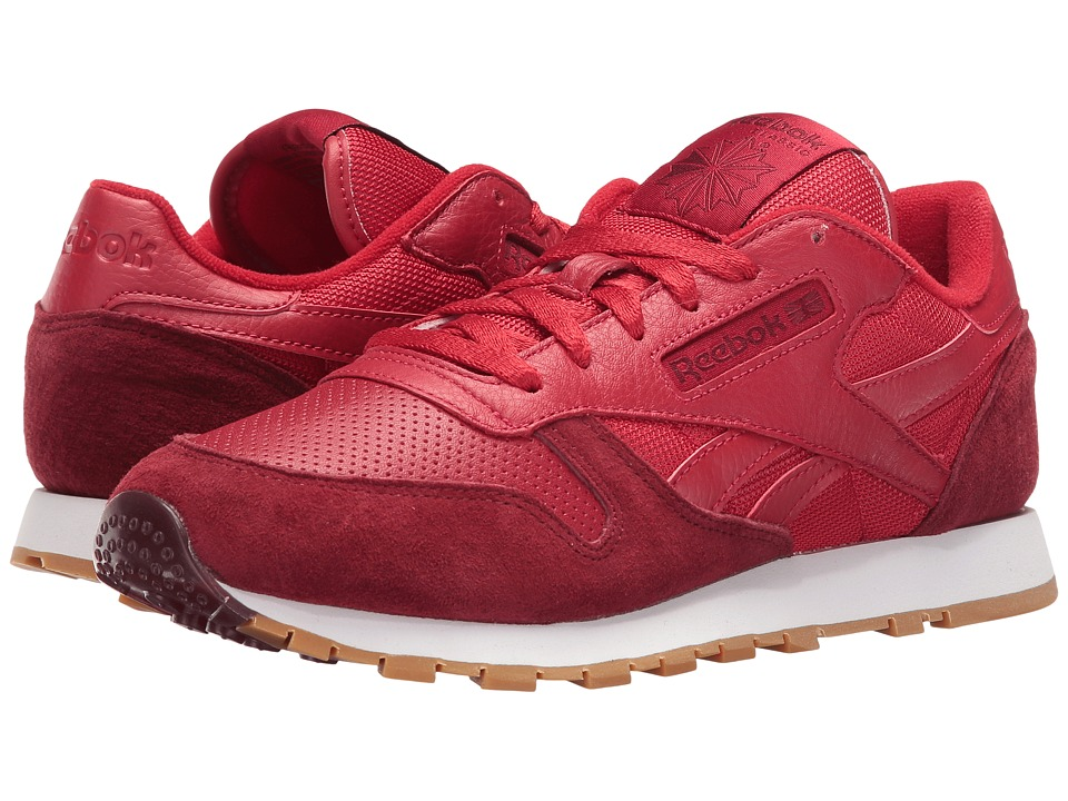 Reebok CL Leather SPP (Flash Red/Merlot/White) Women