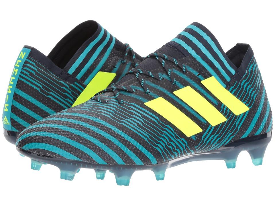 adidas Nemeziz 17.1 Firm Ground Cleats (Legend Ink/Solar Yellow/Energy Blue) Men