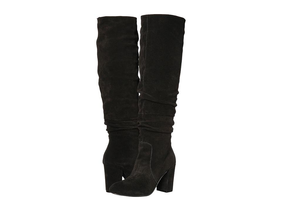 Steve Madden - Sagan (Black Suede) Women's Boots