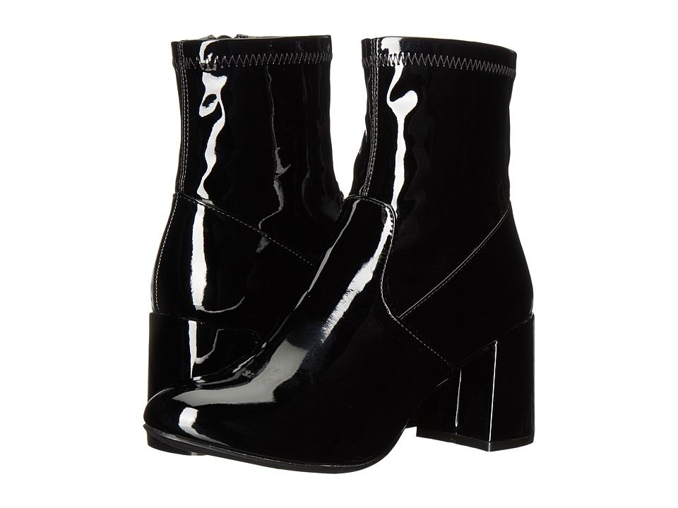 Steve Madden - Sania (Black Patent) Women's Boots