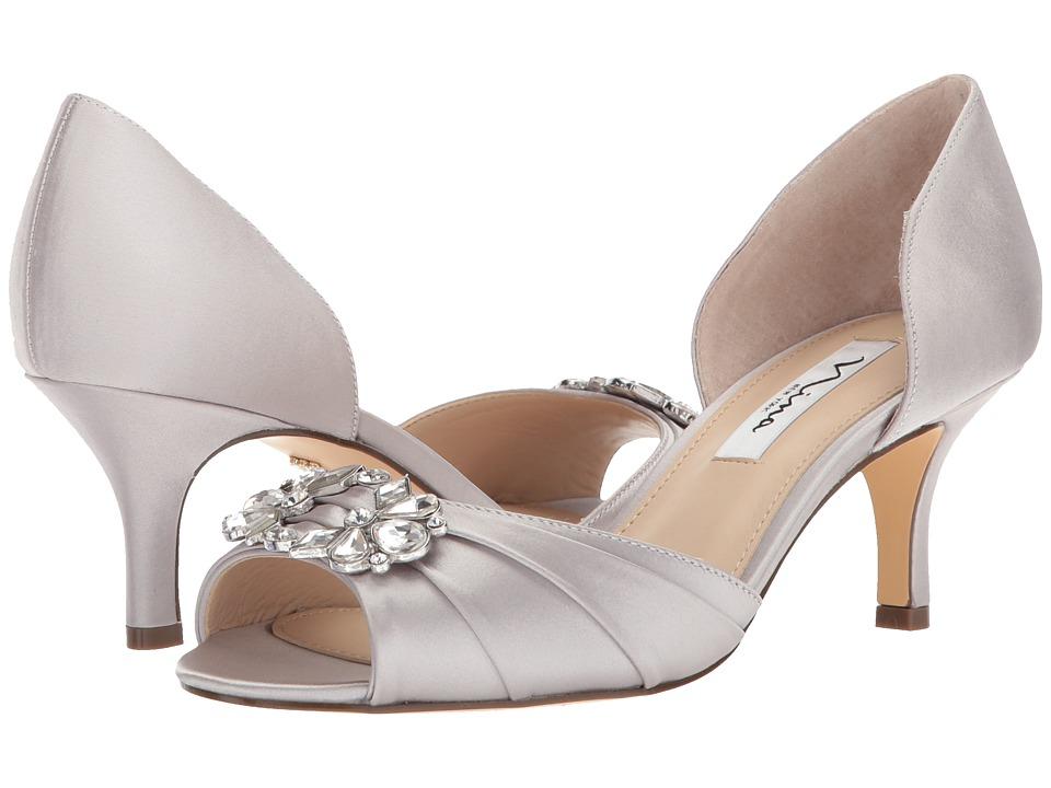 Nina Charisa (Silver Crystal Satin) High Heels