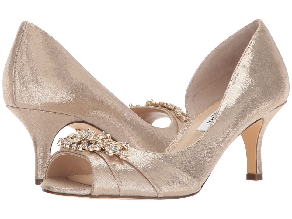 Nina Cyrene (Taupe Reflective Suedette) High Heels