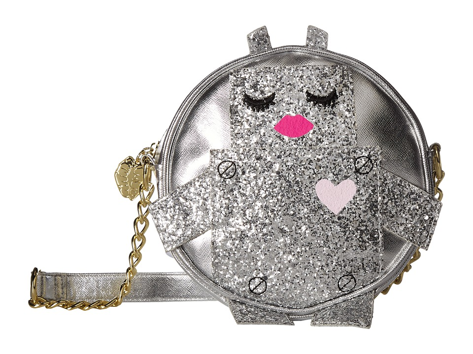 Luv Betsey - Robbie Robot Kitch Canteen Crossbody (Silver) Cross Body Handbags