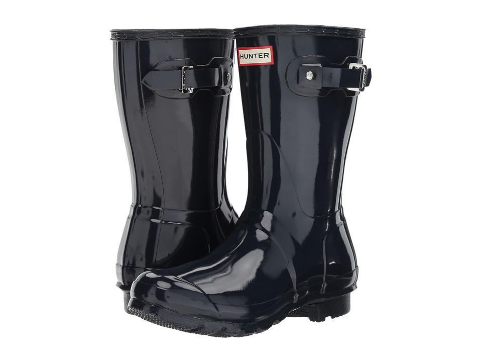 Hunter - Original Short Gloss (Navy) Women's Shoes