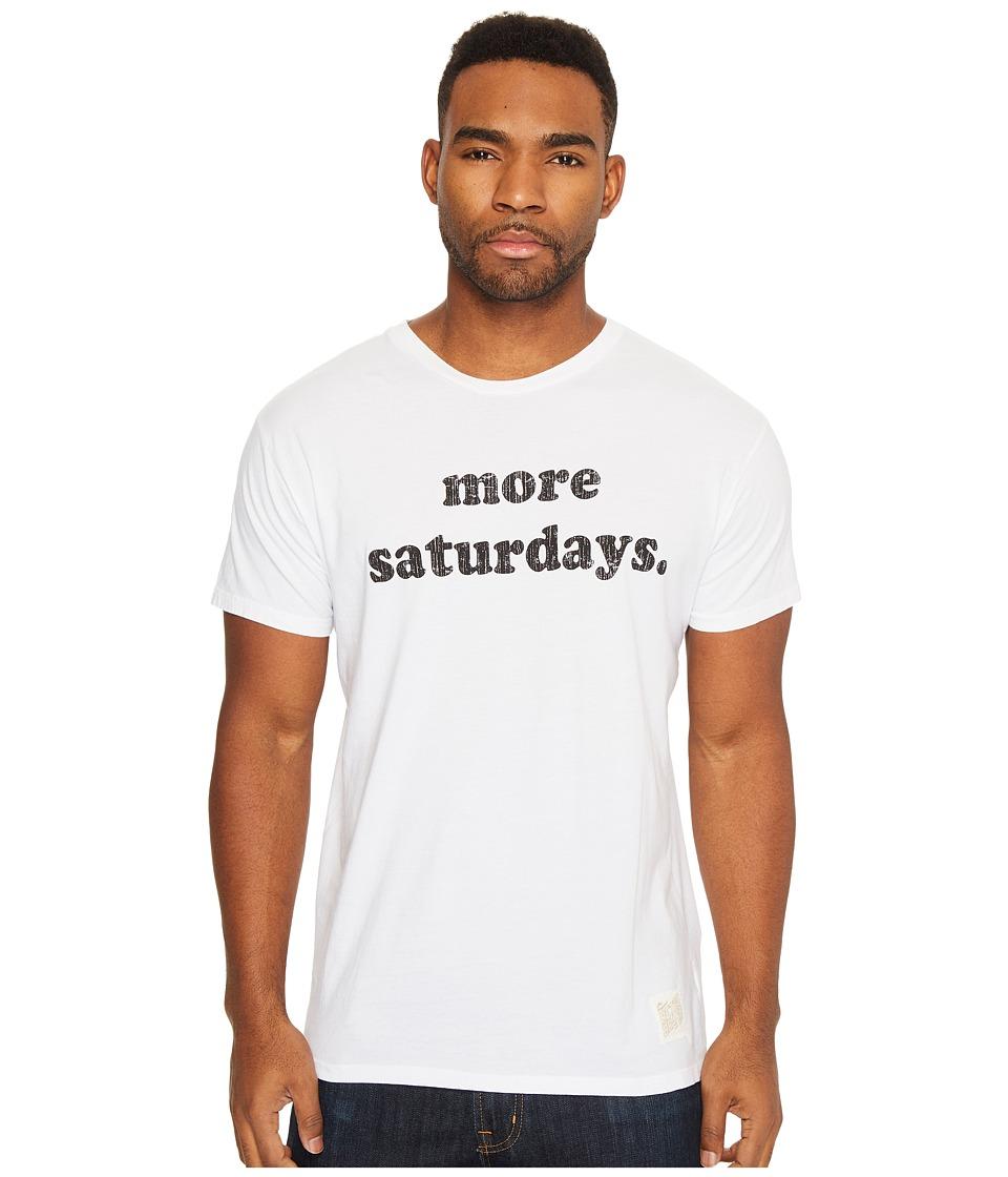 The Original Retro Brand - More Saturdays Vintage Cotton Short Sleeve Tee (White) Men's T Shirt
