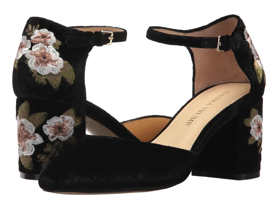 Ivanka Trump Flavia 2 Black Fabric High Heels