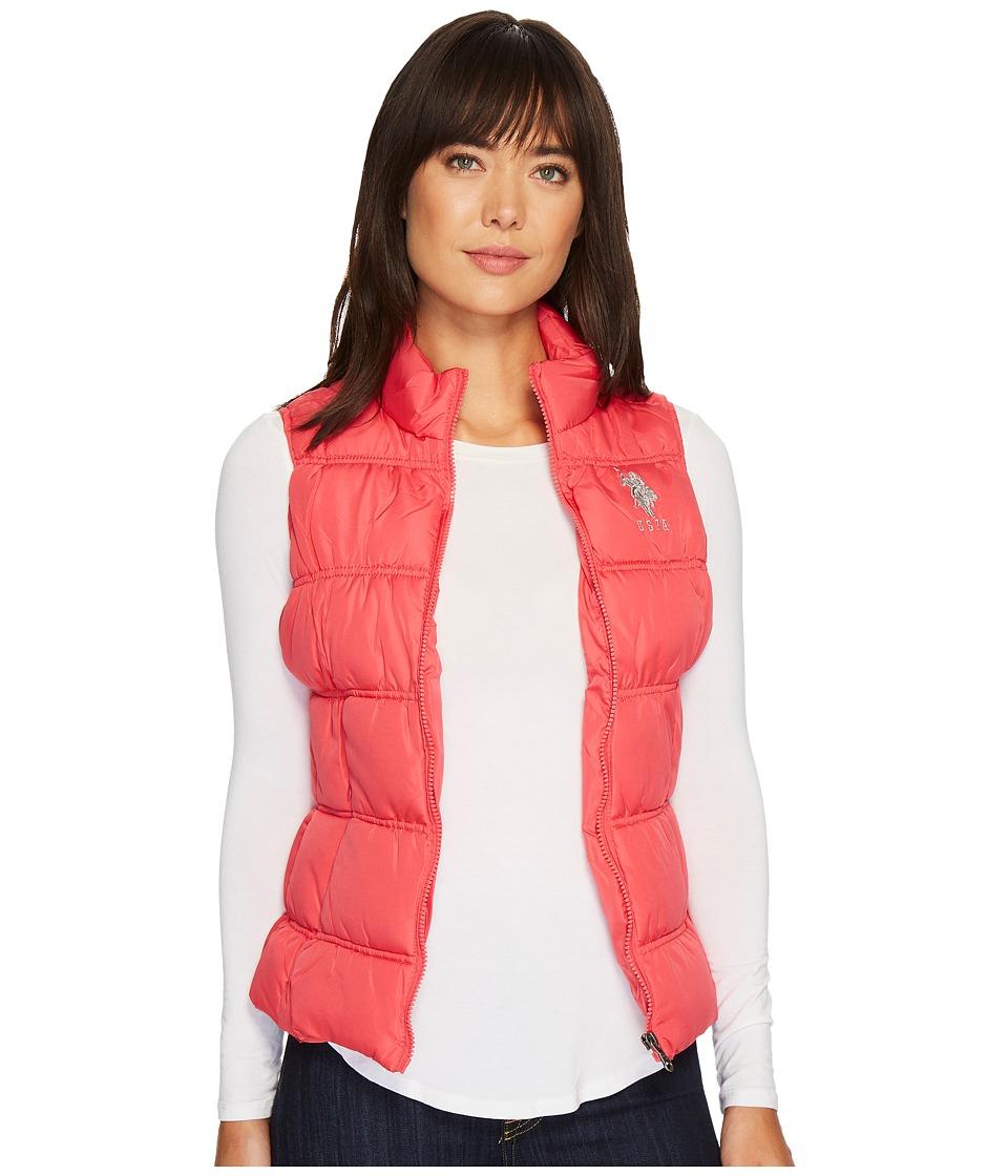 U.S. POLO ASSN. - Basic Puffer Vest (Azalea) Women's Vest