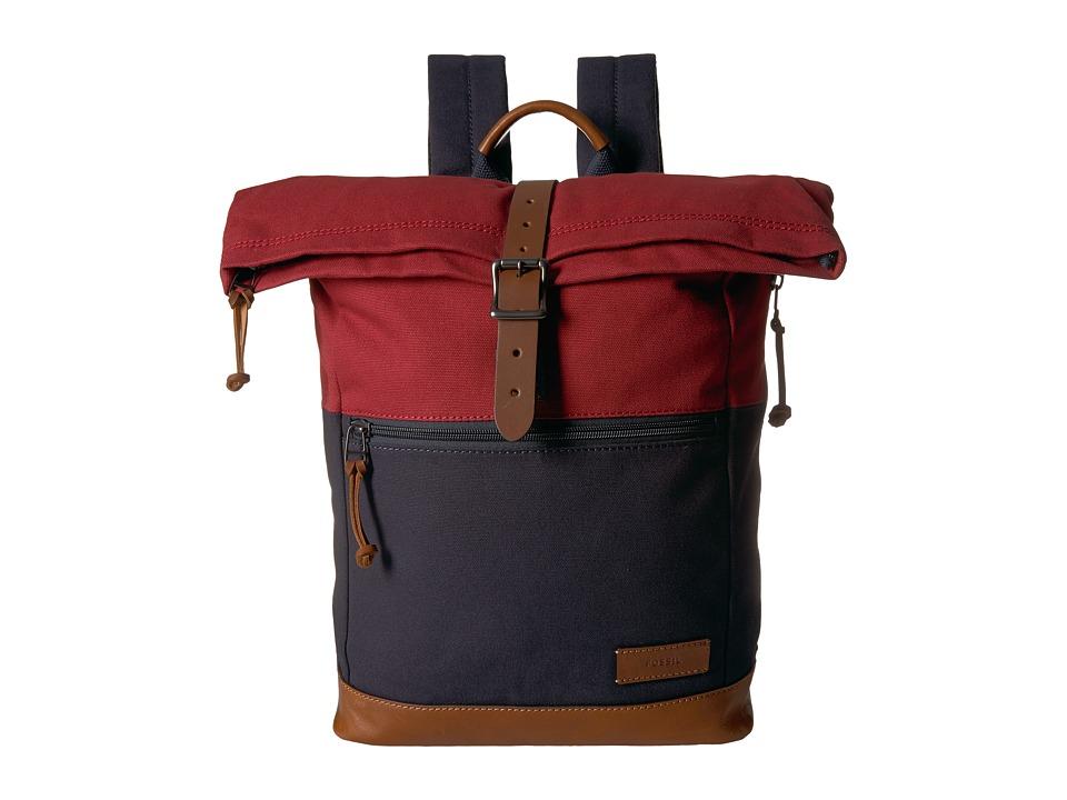 Fossil - Defender Backpack (Red) Backpack Bags