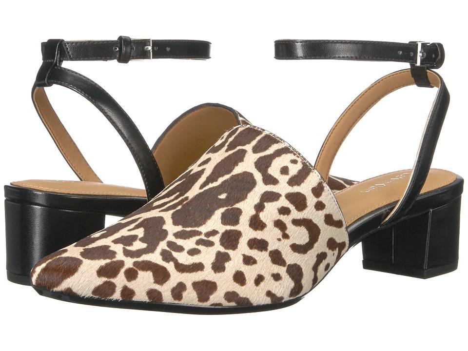 Calvin Klein Ginetta (Black/White Winter Leopard Haircalf) High Heels