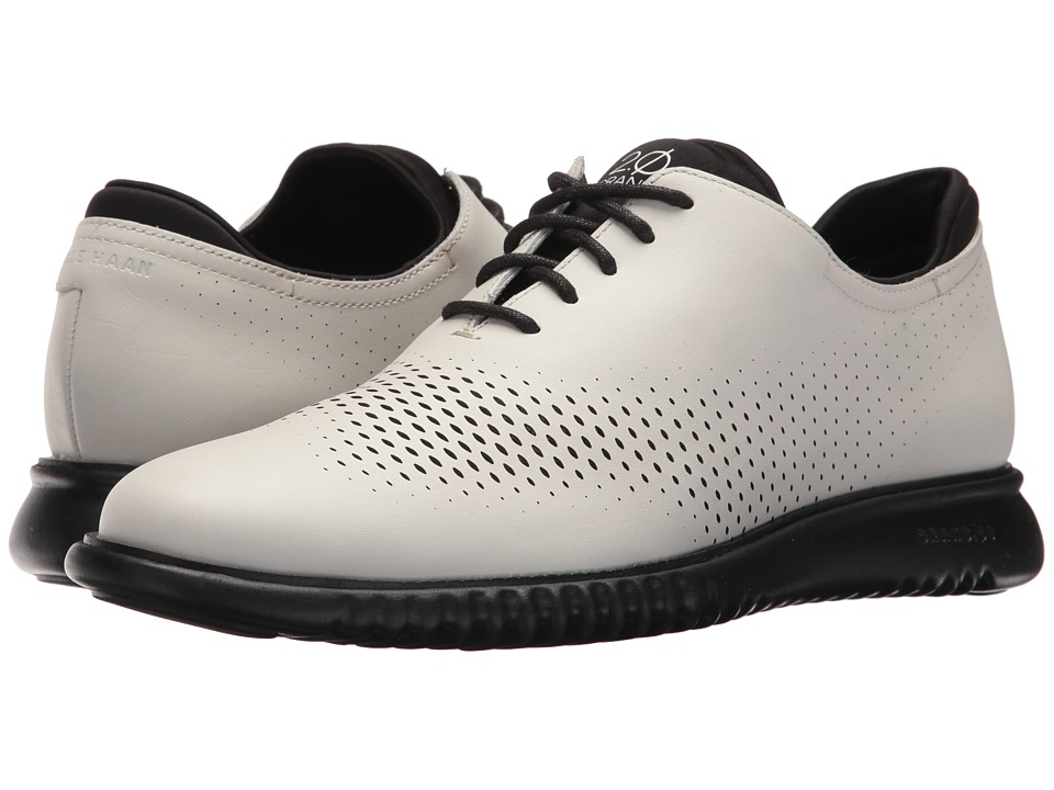 Cole Haan 2.Zerogrand LSR Wing (Optic White Leather/Black) Men