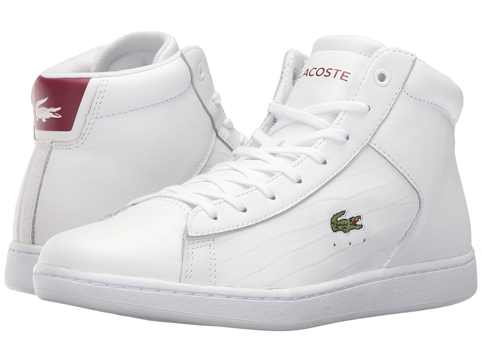 Lacoste Carnaby Evo Mid G316 2 SPW (White/Red) Women