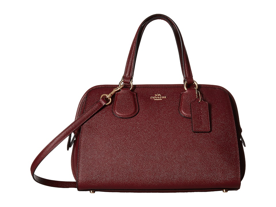 COACH - Crossgrain Nolita Satchel (IM/Burgundy) Satchel Handbags