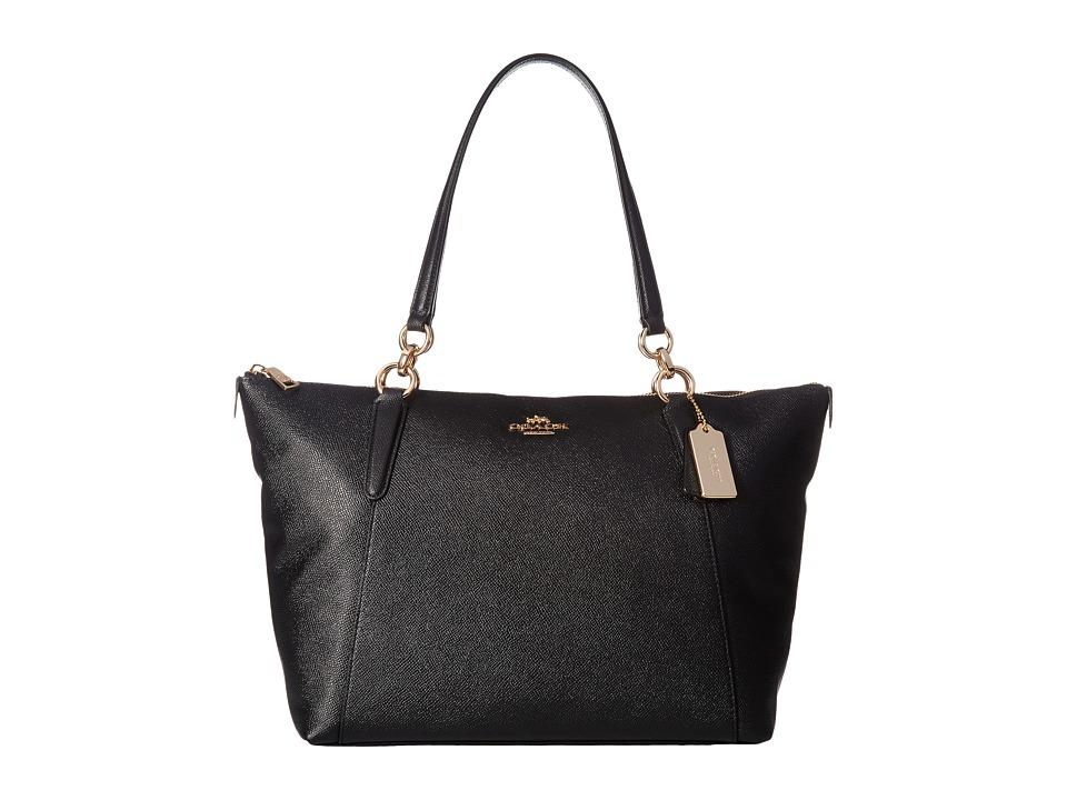COACH - Crossgrain Ava Tote (IM/Black) Tote Handbags