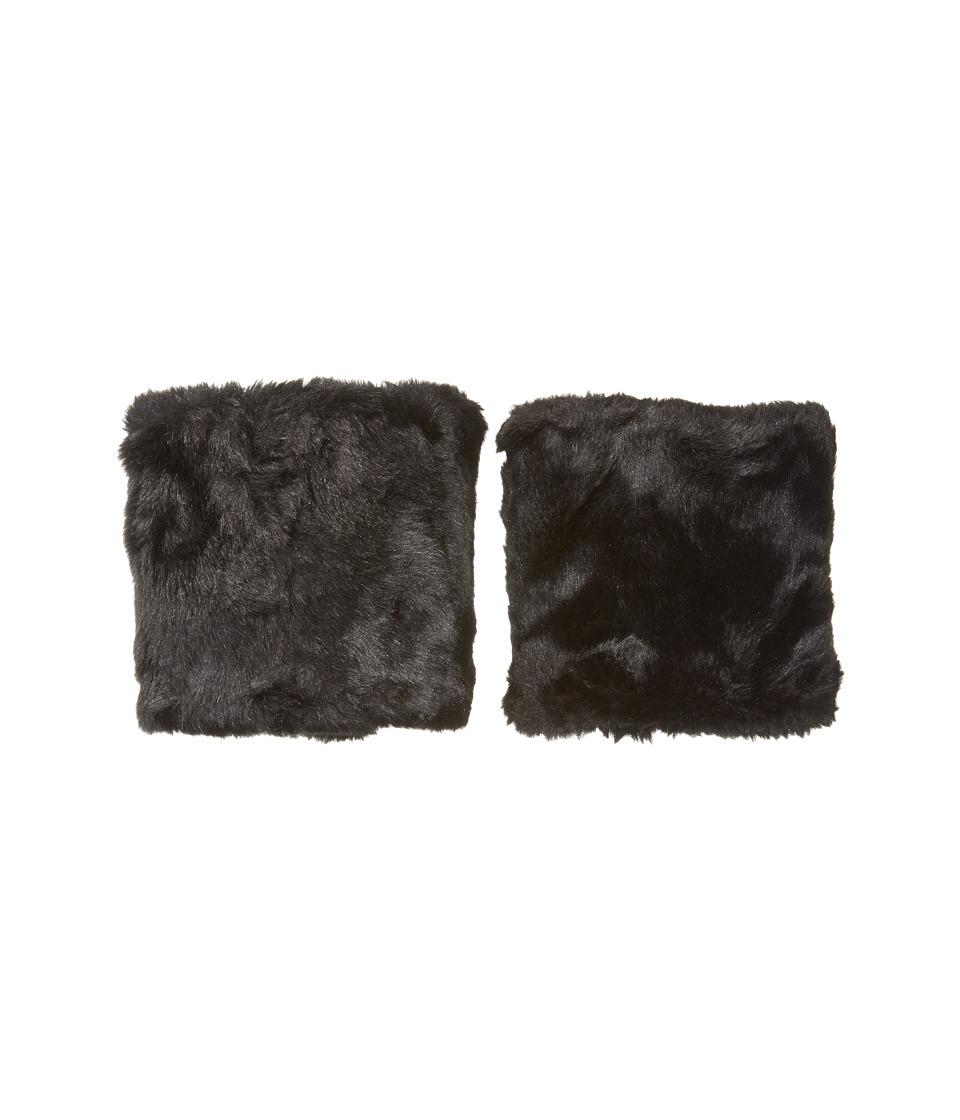 Betsey Johnson Faux Fur Boot Cuff (Black) Women