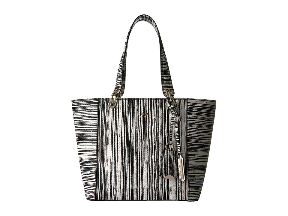GUESS - Kamryn Tote (Black Stripe) Tote Handbags