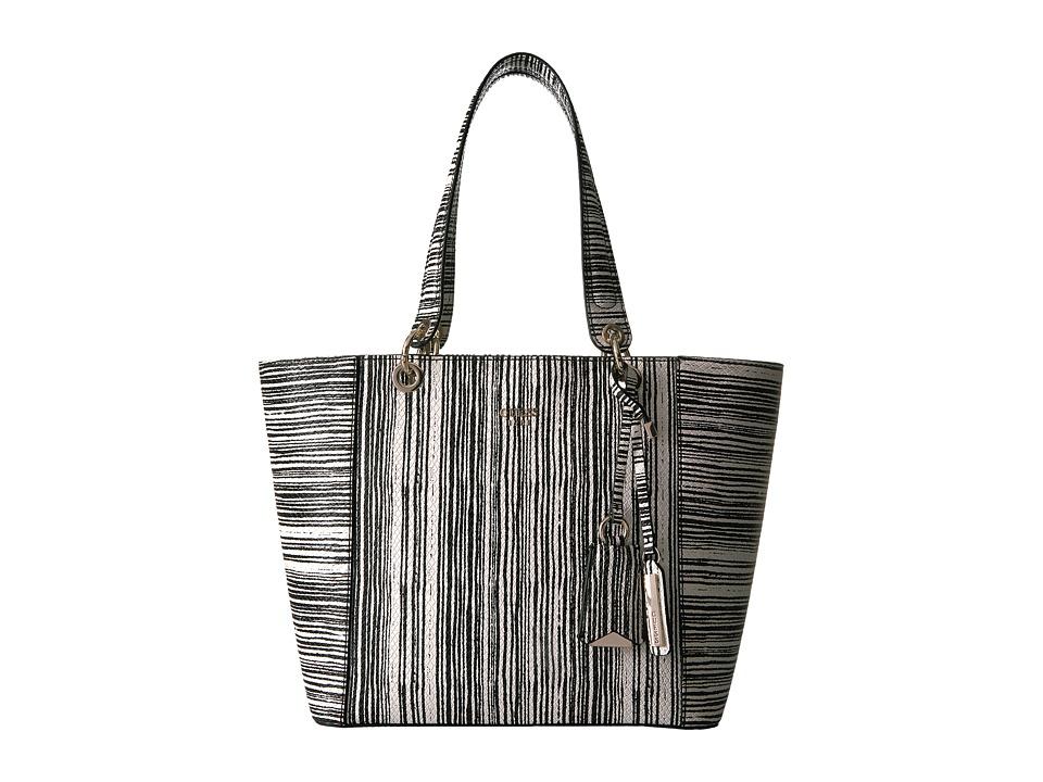 GUESS - Kamryn Tote (Black Stripe) Tote Handbags