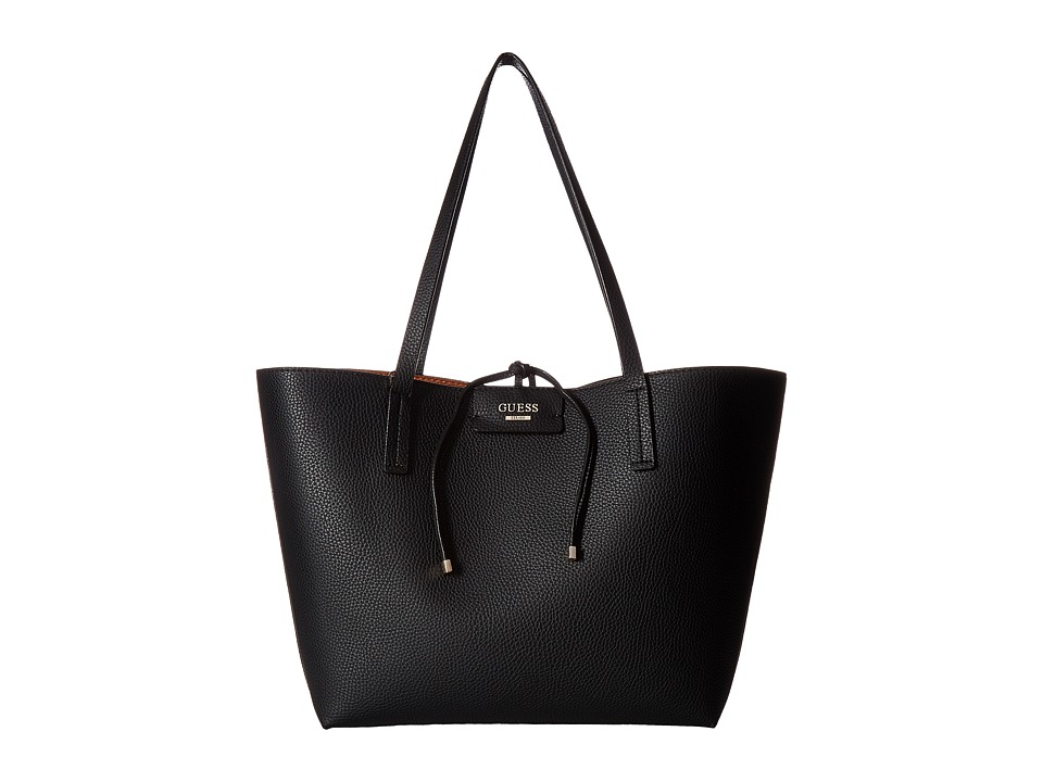 GUESS - Bobbi Inside Out Tote (Black Multi) Tote Handbags