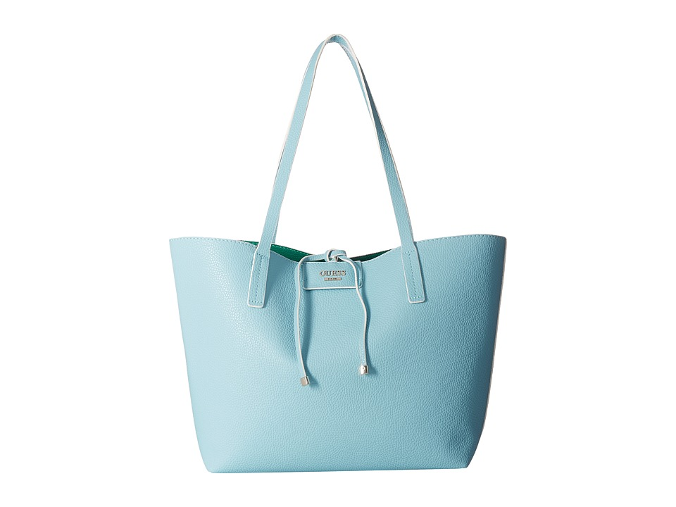 GUESS - Bobbi Inside Out Tote (Aqua/Green) Tote Handbags
