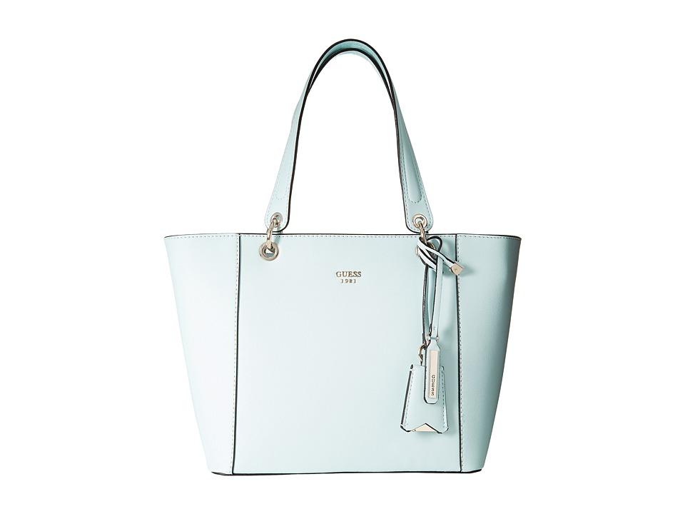 GUESS - Kamryn Tote (Aqua) Tote Handbags