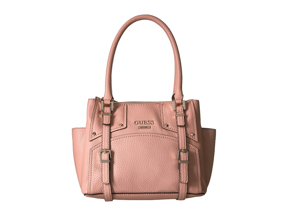 GUESS - Rikki Small Status Satchel (Blush) Satchel Handbags