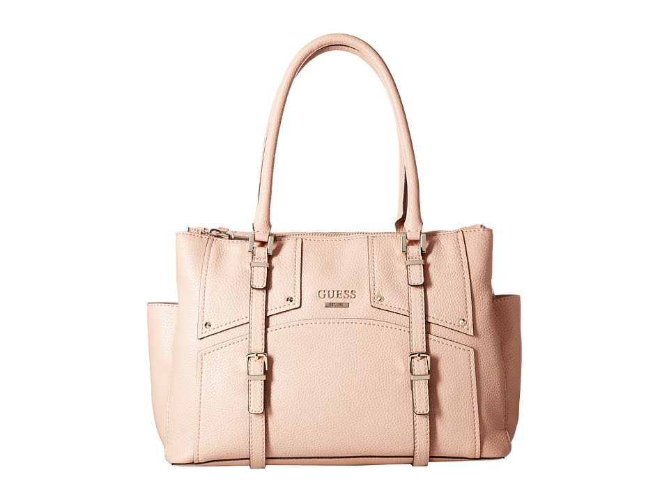 GUESS - Rikki Status Satchel (Blush) Satchel Handbags